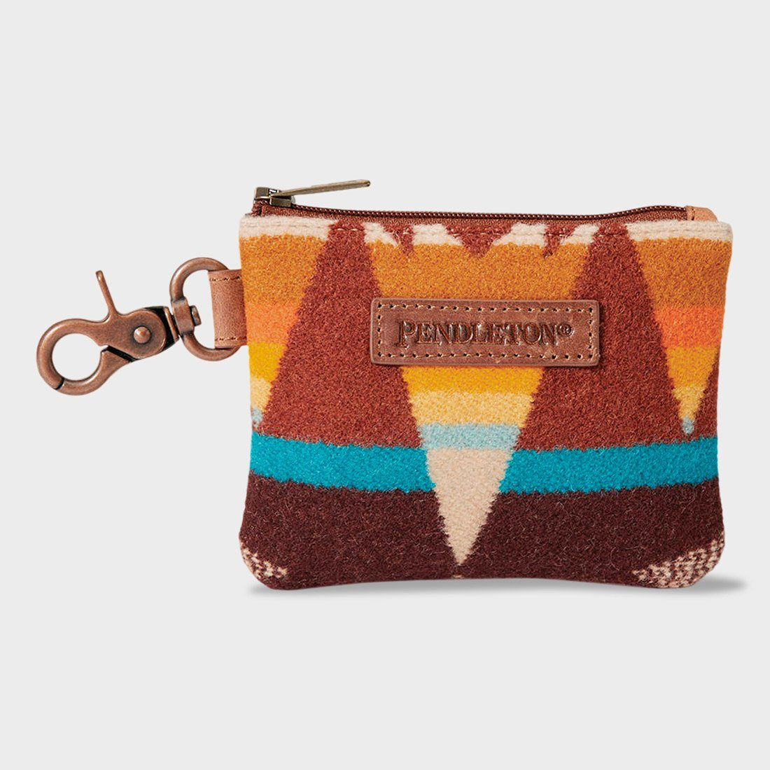 Pendleton ID Pouch with Key Ring Crescent Butte