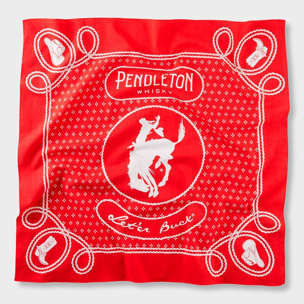 product: Pendleton Jumbo Bandana Whiskey Red