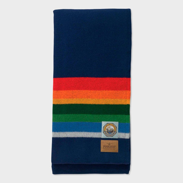 product: Pendleton National Park Full Bed Blanket Crater Lake Navy