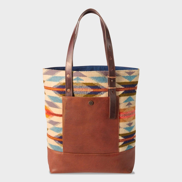 product: Pendleton Open Tote Cognac/Wyeth Trail