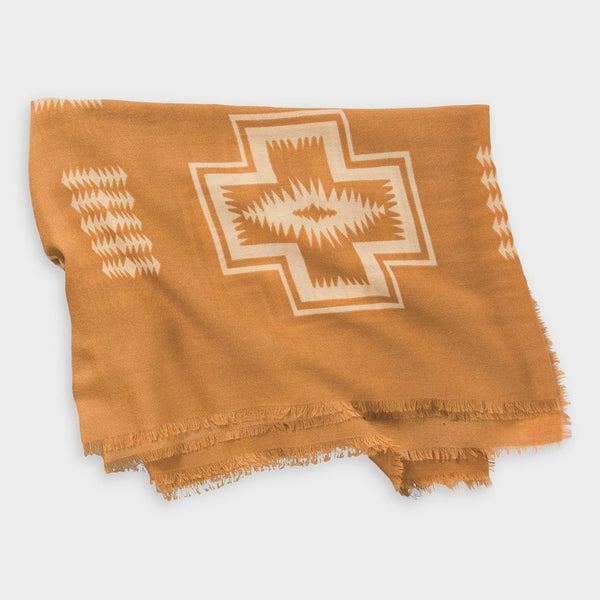 product: Pendleton Oversized Featherweight Wool Scarf Harding Tan