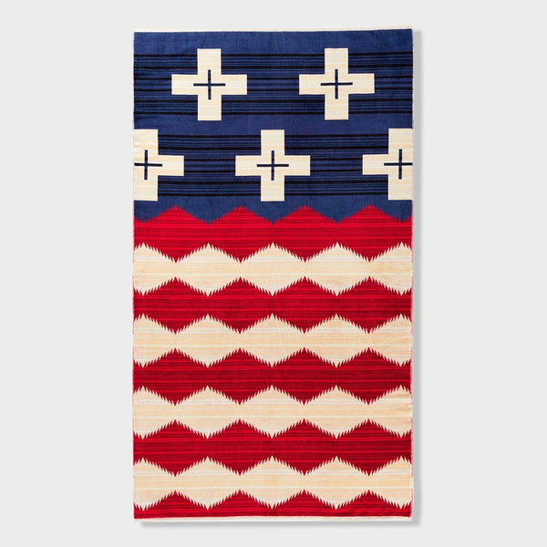 product: Pendleton Oversized Jacquard Towel Brave Star