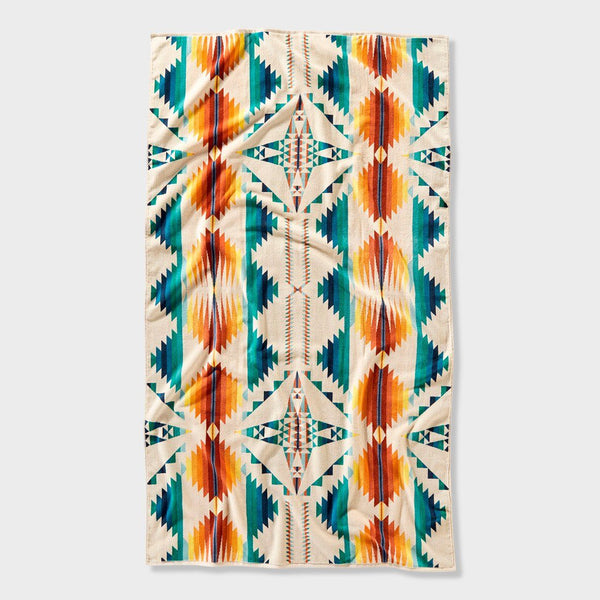 product: Pendleton Oversized Jacquard Towel Falcon Cove Sunset