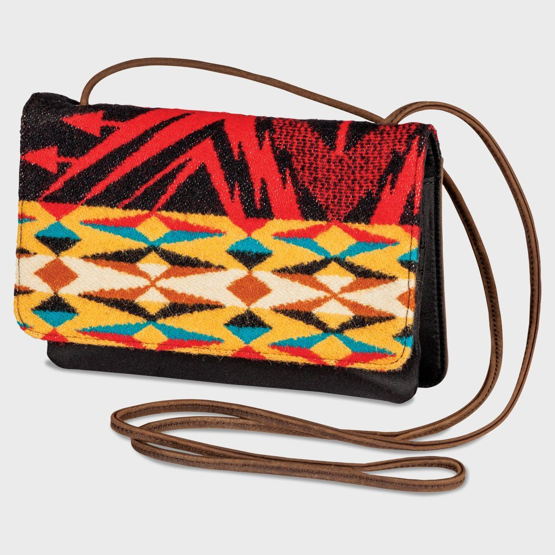 Pendleton Slim Wallet With Strap Echo Peaks Black