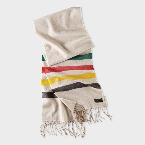 product: Pendleton Whisperwool Muffler Scarf Glacier Stripe
