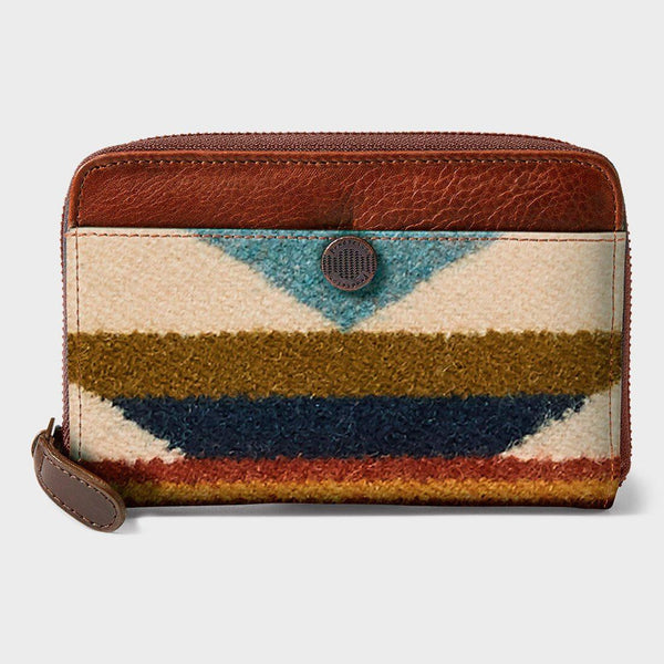product: Pendleton Zip Wallet Cognac/Wyeth Trail