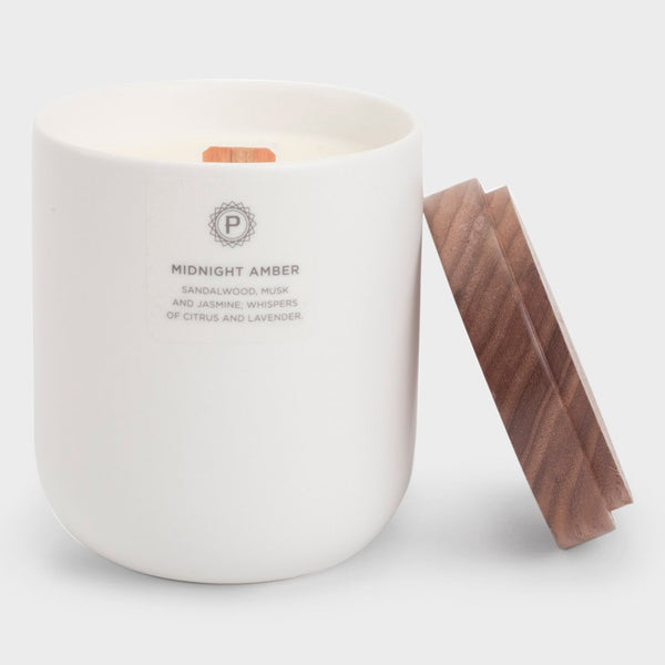 product: Penrose Candles Ceramic Candle Midnight Amber