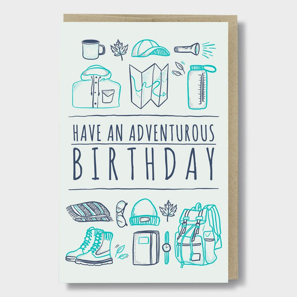 product: Pike St. Press Adventurous Birthday Card