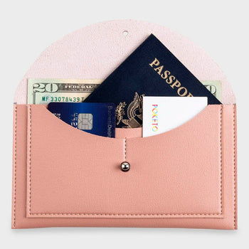 product: Poketo Minimalist Envelope Wallet Blush