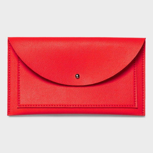 product: Poketo Minimalist Envelope Wallet Red
