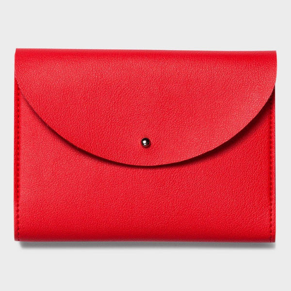 product: Poketo Small Minimalist Folio Red