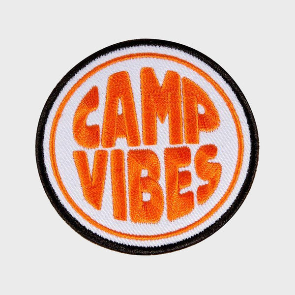 product: Poler Camp Vibes Iron-on Patch Orange