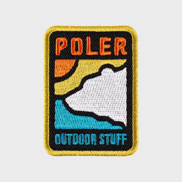 product: Poler Geo Bear Iron-on Patch Black