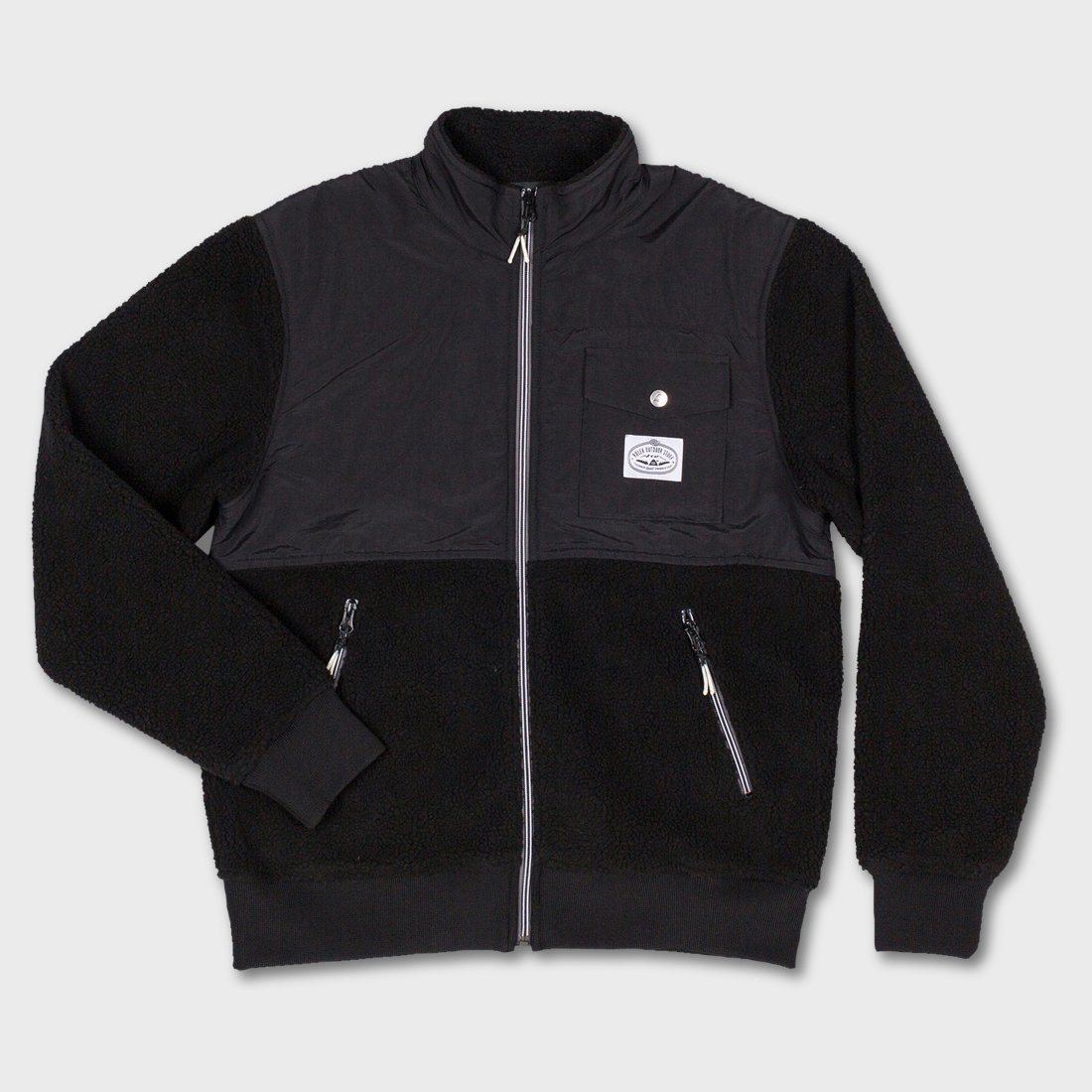 Poler Half Fleece Jacket Black