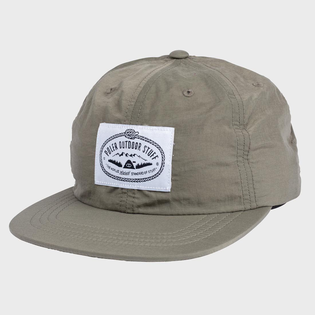 Poler Lasso Label Nylon Floppy Hat Olive