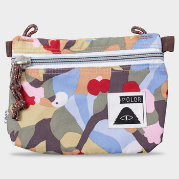 product: Poler Stuffable Pouch Small Burnt Birdy Print