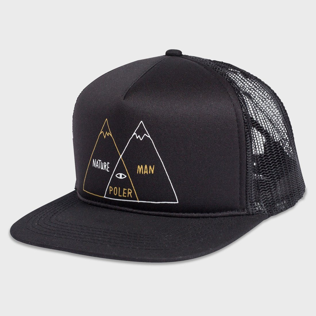 Poler Venn Trucker Hat Black