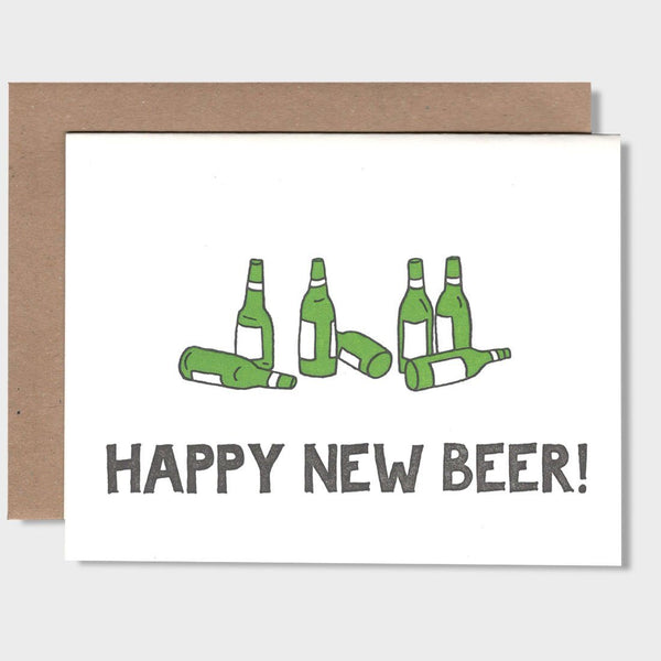 product: Power & Light Press Happy New Beer Card