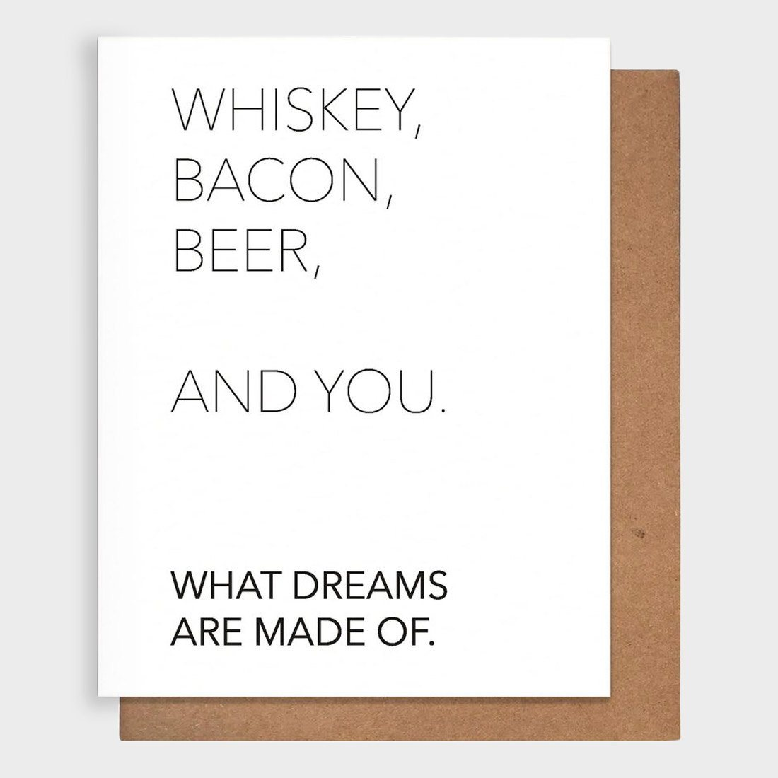 Pretty Alright Goods Whiskey + You Card