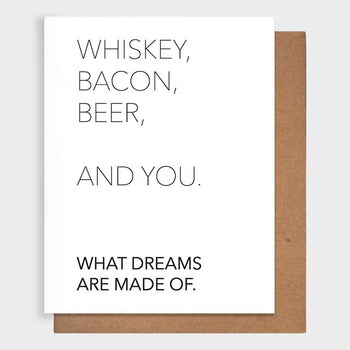 product: Pretty Alright Goods Whiskey + You Card