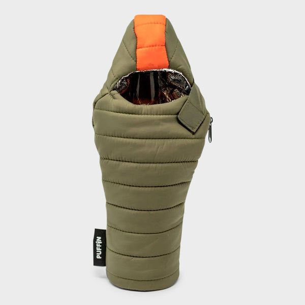 product: Puffin Bottle Sleeping Bag Green/Orange