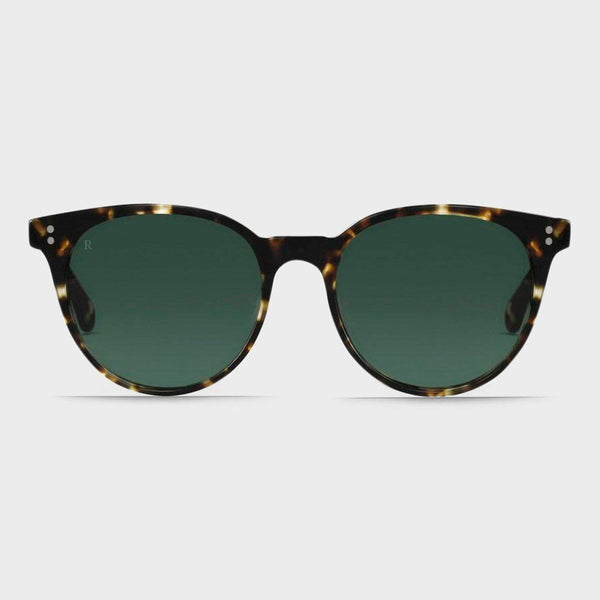 product: Raen Norie Sunglasses Brindle Tortoise/ Green