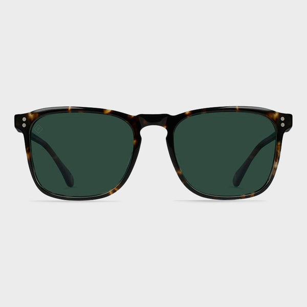 product: Raen Wiley Sunglasses Brindle Tortoise/ Green Polarized