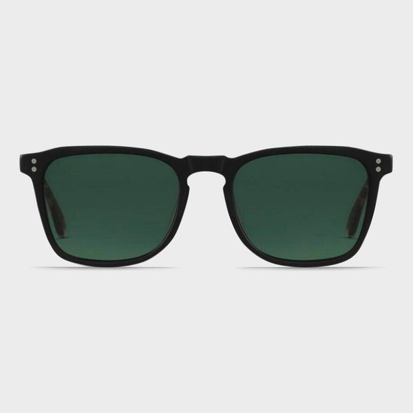 product: Raen Wiley Sunglasses Matte Black and Brindle Tort/ Green (Polarized)