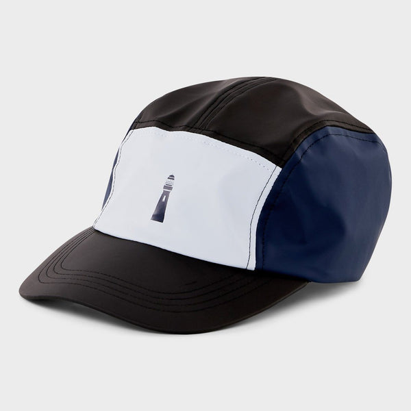 product: RAINS Color Block Dad Cap Ice Grey/Blue