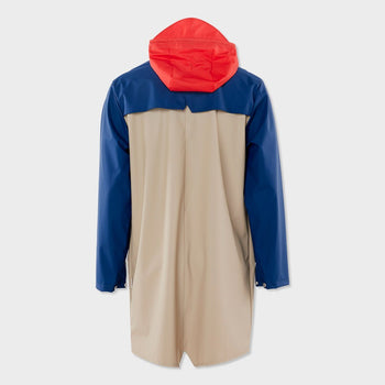 product: RAINS Unisex Color Block Long Jacket Blue/Klein Blue