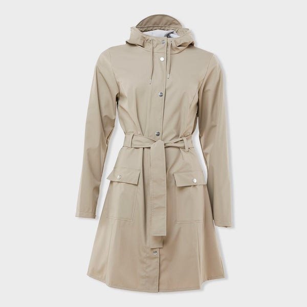 product: RAINS Women's Curve Jacket Beige