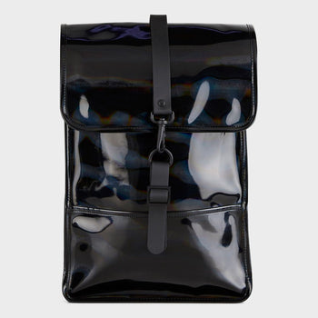 product: RAINS Holographic Backpack Mini Black