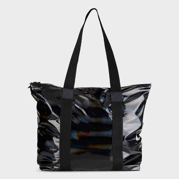 product: RAINS Holographic Tote Bag Black
