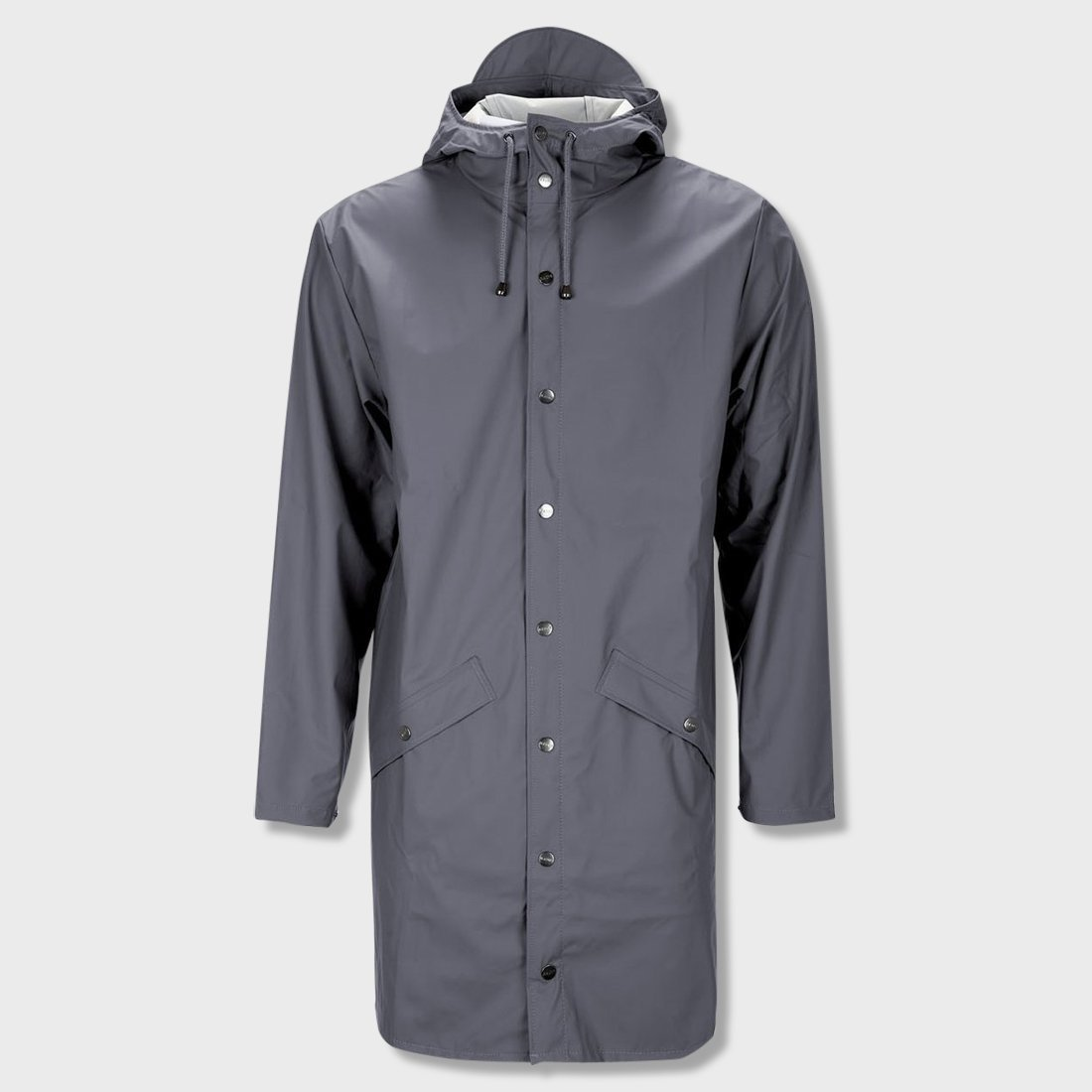 RAINS Unisex Long Jacket Smoke