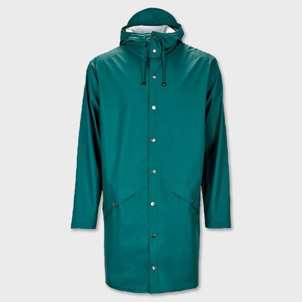 product: RAINS Long Jacket Dark Teal