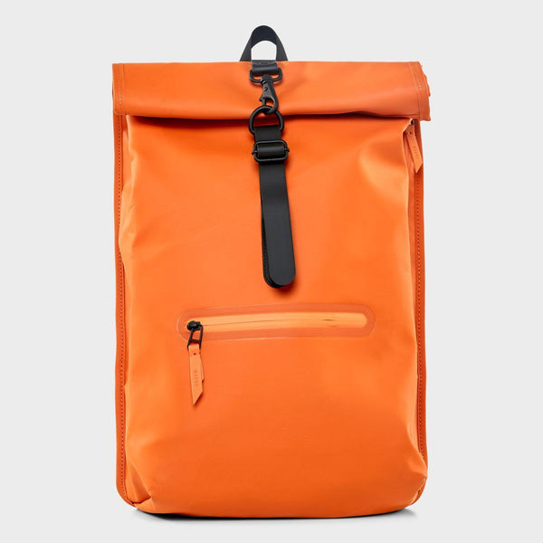 product: RAINS Rolltop Rucksack Orange