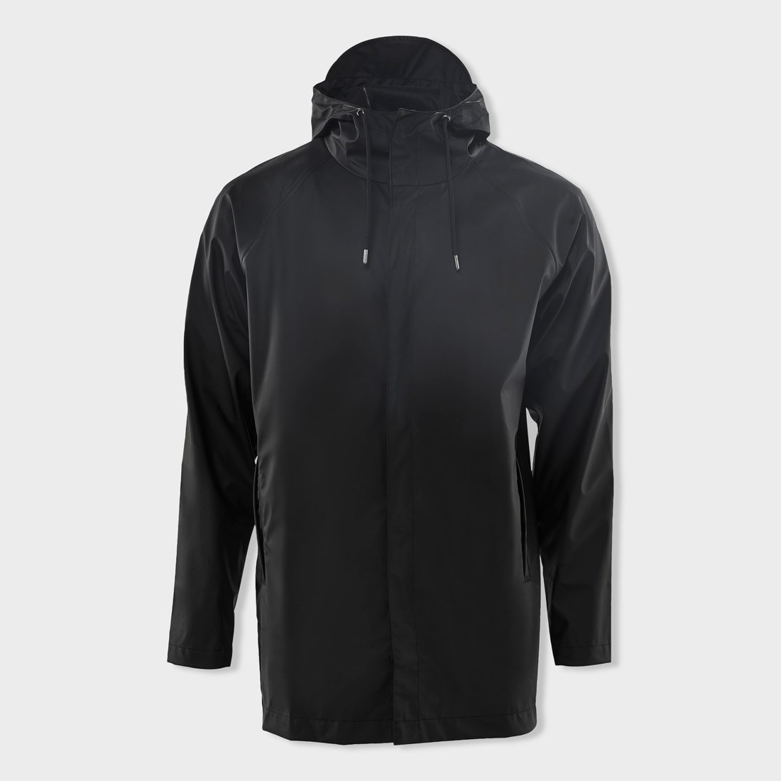 RAINS Unisex Short Coat Black