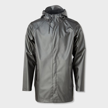 product: RAINS Unisex Short Coat Metallic Grey