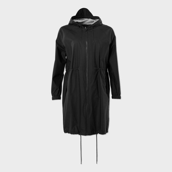 product: RAINS Women's Long Jacket Black