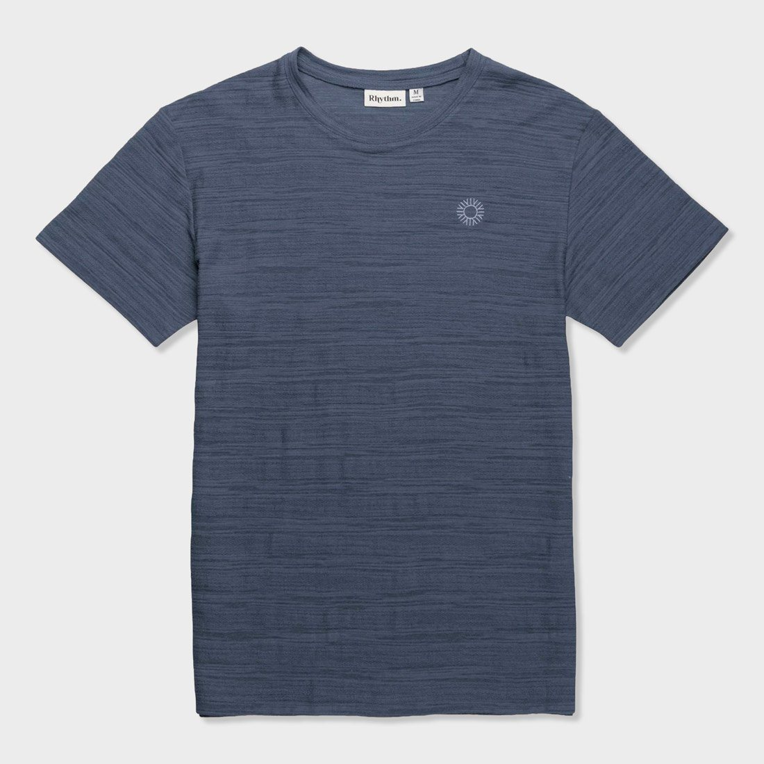 Rhythm Bangalow Textured T-Shirt Stone Blue