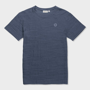 product: Rhythm Bangalow Textured T-Shirt Stone Blue