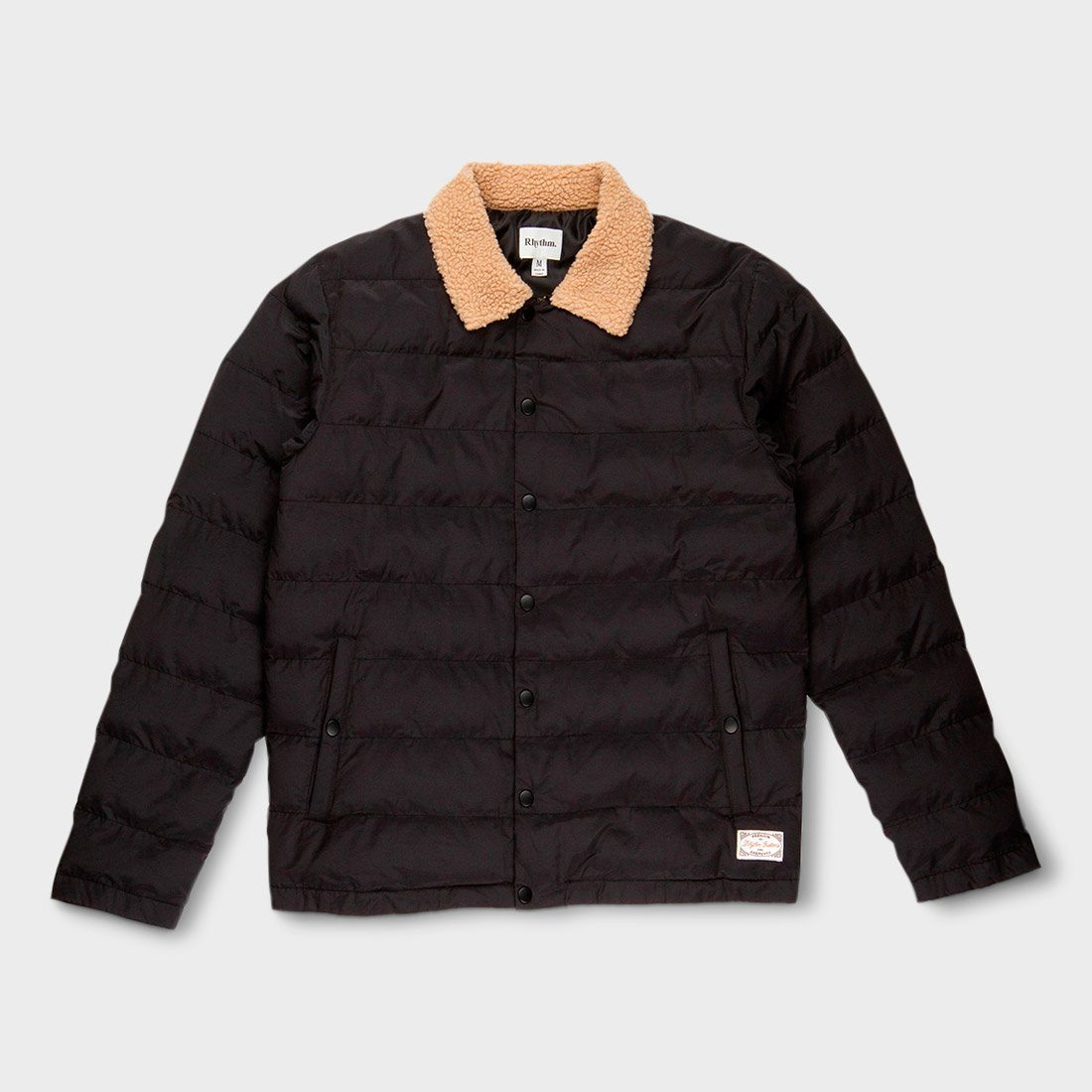 Rhythm Bora Quilted Jacket Black