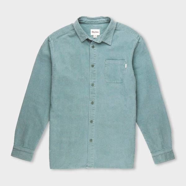 product: Rhythm Corduroy Shirt Mineral Blue
