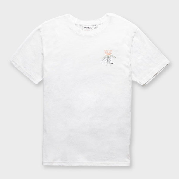 product: Rhythm For You Flower T-Shirt White