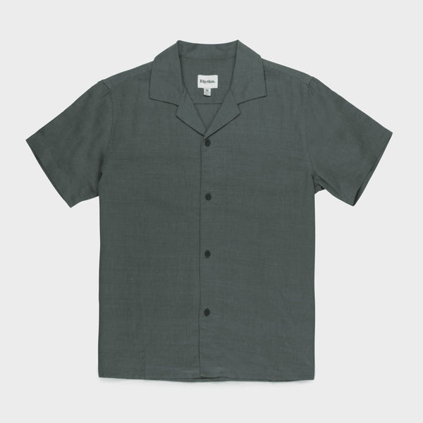 product: Rhythm Linen Cuban Shirt Agave