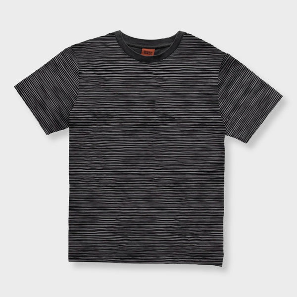 product: Rhythm Textured Stripe T-Shirt Charcoal