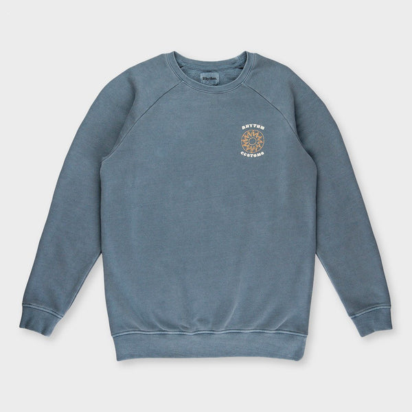 product: Rhythm Washed Out Pullover Indigo