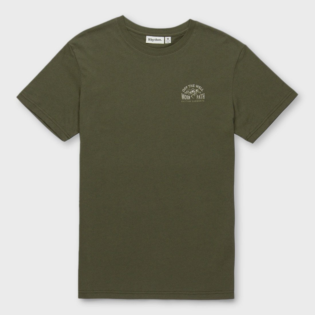 Rhythm Well Worn T-Shirt Olive