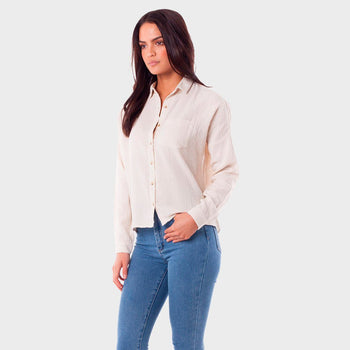 product: Rhythm Women's Camille Shirt Ecru