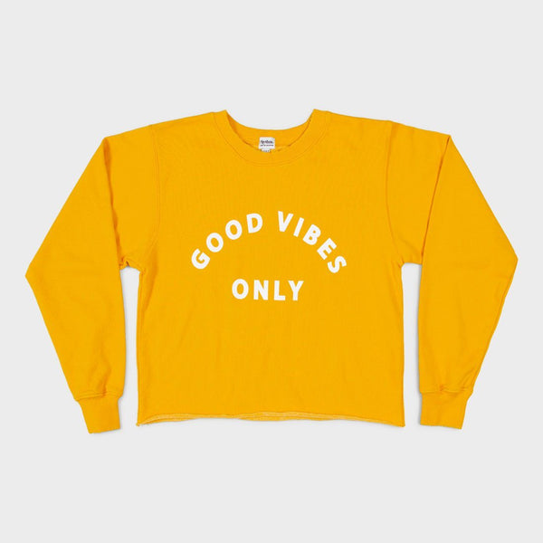 product: Rhythm Women's Good Vibes Pullover Sunshine